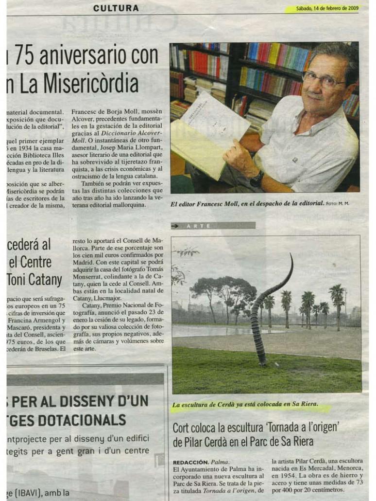 Prensa Pilar Cerdà 'Tornada a l'origen'