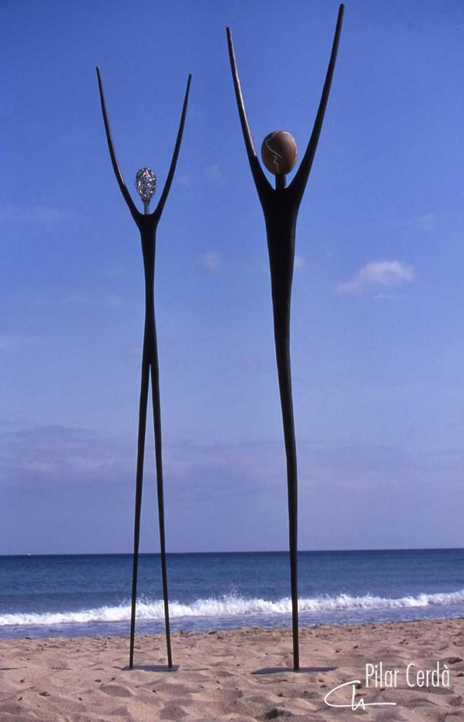 Esculturas Pilar Cerdà 'Connexió I/II'