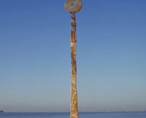 Escultura Pilar Cerdà 'Viatge d'hivern. Llàgrimes gelades'