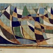 Mural Pilar Cerdà 'Barques trencades'
