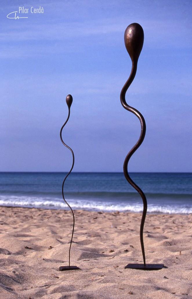 Esculturas Pilar Cerdà 'Desafio I y II'