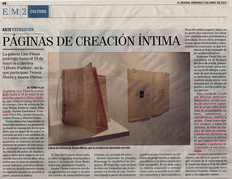 Prensa Pilar Cerdà 'Metamorfosi'