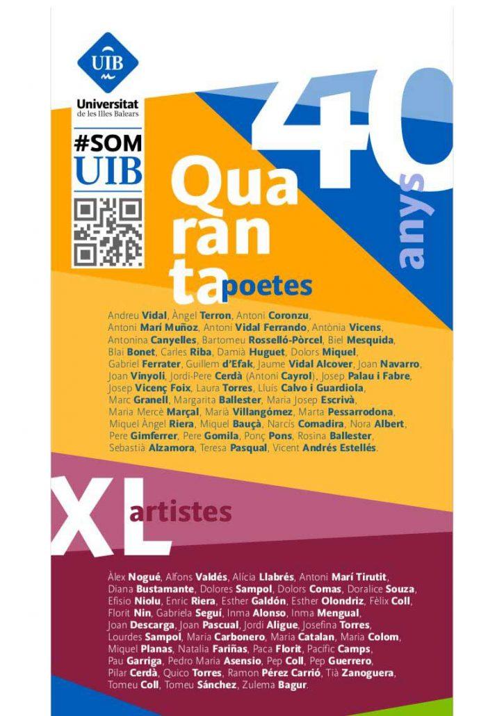 "Poster ""40 anys, 40 poetes, XL artistes"""