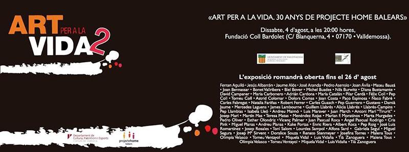 Invitación 'Art per la vida 2'