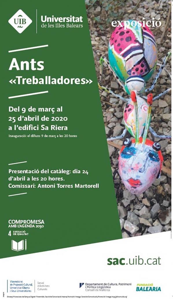 Cartel Exposición Colectiva 'Ants - Treballadores'